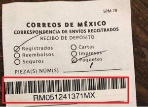 Correos de Mexico rastreo de Guias