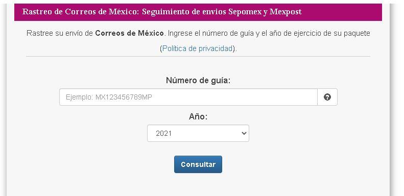 correos de mexico rastreo